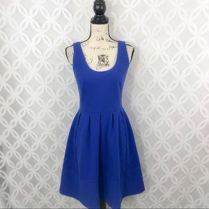 Banana Republic Royal Blue Fit N Flare Dress
